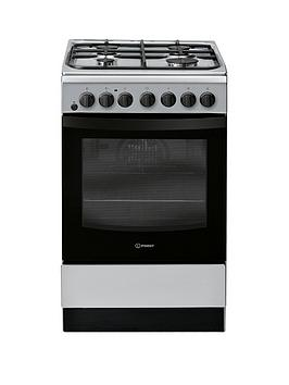 Indesit Indesit Is5G4Phss 50Cm Dual Fuel Single Oven Cooker - Stainless  ... Picture