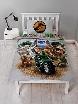 Lego Lego  Jurassic World Dinosaur Reversible Single Duvet Cover Set Picture