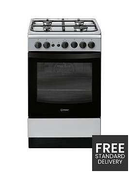 indesit-is5g1pmss-50cm-gas-single-oven-cooker-silver