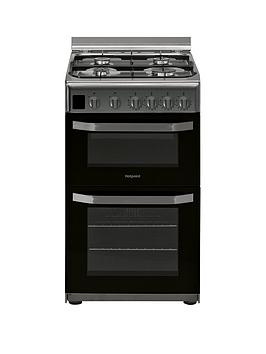 Hotpoint Hotpoint Hd5G00Ccx 50Cm Wide Gas Double Oven Cooker - Stainless  ... Picture