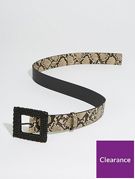 warehouse-raffia-buckle-belt-animal-print
