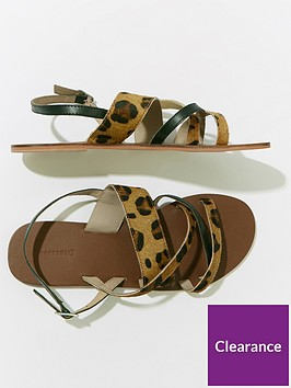 warehouse-multi-strap-sandals--nbspleopard-printnbsp