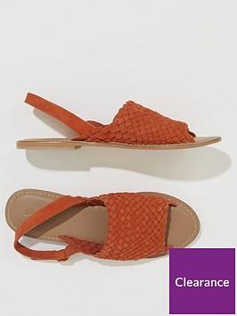 warehouse-woven-slingback-sandals-orange