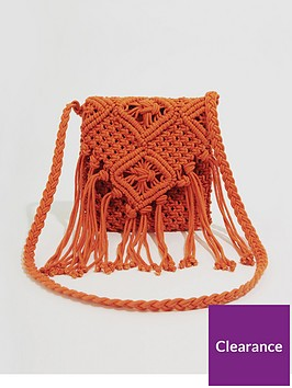 warehouse-macrame-cross-body-bag-red