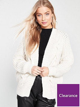 river-island-cable-knit-cardigan-cream