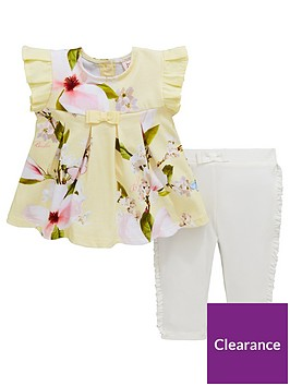 5df3cfff5 Baker by Ted Baker Baby Girls Frill Sleeve Top And Legging Set - Yellow