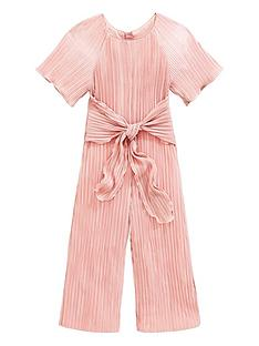 2deeeacfe Baker by Ted Baker Girls Plisse Tie Front Jumpsuit - Gold
