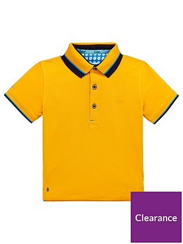 41ddc9449a58 Baker by Ted Baker Toddler Boys Icon Polo Shirt - Mustard ...