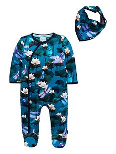 2b1916849770a0 Baker by Ted Baker Baby Boys Lilly Pads Sleepsuit - Green