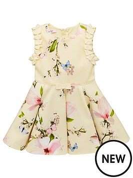 44a7bcd67 Baker by Ted Baker Toddler Girls Harmony Floral Scuba Dress - Yellow ...