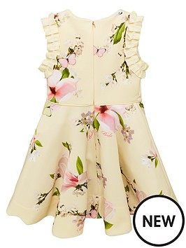 7de1348b8 ... Ted Baker Toddler Girls Harmony Floral Scuba Dress - Yellow   Previous    Next. View larger