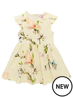 424a723e4 Baker by Ted Baker Toddler Girls Harmony Printed Jersey Dress - Yellow