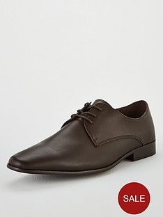 office-glide-plain-toe-lace-up-shoe-chocolate