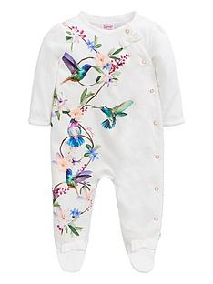 40de86a71 Baker by Ted Baker Baby Girls Printed Sleepsuit - Off White