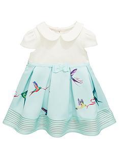 5698d188d9f69 Baker by Ted Baker Baby Girls Bird Mockable Dress - Light Green