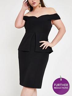 ri-plus-ri-plus-structured-bodycon-midi-dress-black
