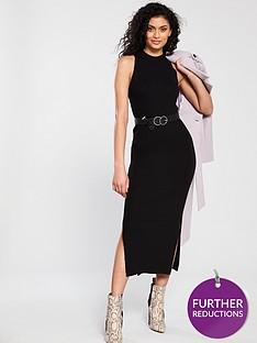 river-island-midi-knit-dress-black