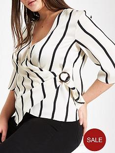 ri-plus-ri-plus-ring-stripe-detail-wrap-blouse-white