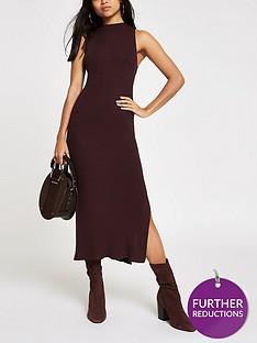 ri-petite-knitted-midi-dress-chocolate