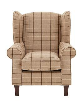 Very Highland Fabric Wing Chair Picture