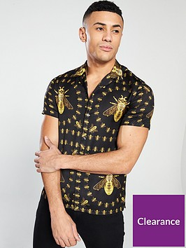 hermano-hermano-cuban-short-sleeve-bee-printed-shirt
