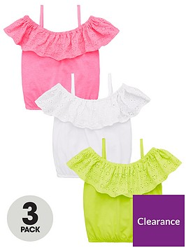 mini-v-by-very-girls-3-pack-cold-shoulder-broderie-tops-multi