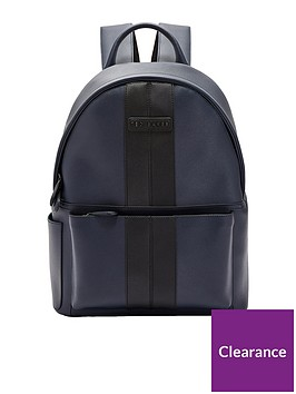 ted-baker-twill-pu-backpack