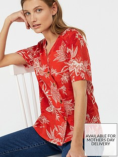 monsoon-marcia-print-linen-top-red