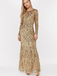 monsoon-carlita-sequin-maxi-dress-gold