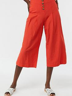 monsoon-becky-button-front-culotte-trousers-orange