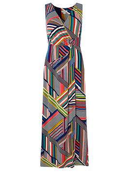 8275d43908 Monsoon Siani Print Maxi Dress - Navy | littlewoods.com