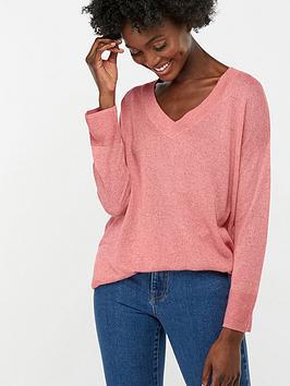 monsoon-valencia-v-neck-linen-blend-jumper-pink