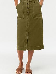 monsoon-ania-long-denim-skirt-khaki