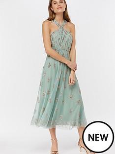 2d2f7848924 Monsoon Monsoon Gracella Embellished Halter Dress