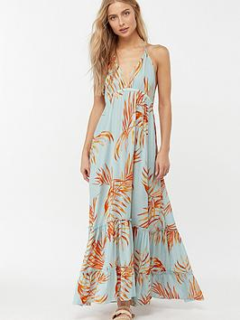 monsoon-ayla-palm-leaves-maxi-dress-blue