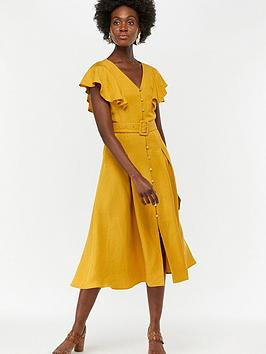 monsoon-kristina-fit-and-flare-dress-yellow