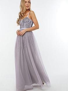 monsoon-courtney-embellished-corset-maxi-dress-grey