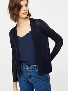 monsoon-evie-edge-to-edge-linen-blend-cardigan-navy