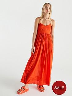 v-by-very-cotton-parachute-maxi-dress-orange