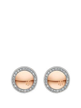 tommy-hilfiger-tommy-hilfiger-silver-and-rose-gold-crystal-set-circle-stud-ladies-earrings