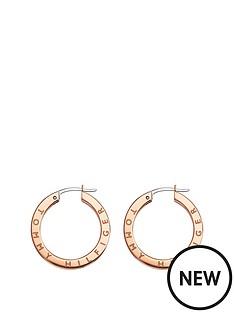 b2954edf8 Tommy Hilfiger Tommy Hilfiger Rose Gold Crystal Set Ladies Hoop Earrings