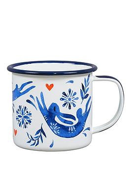 Very Folklore Hare Enamel Mug Picture