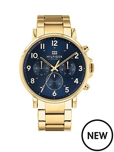 tommy-hilfiger-tommy-hilfiger-daniel-blue-and-gold-detail-chronograph-dial-gold-stainless-steel-bracelet-mens-watch