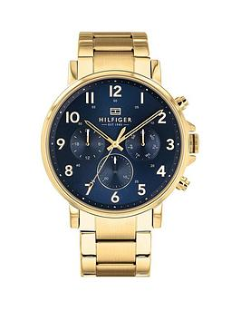 Tommy Hilfiger Tommy Hilfiger Daniel Blue And Gold Detail Chronograph Dial  ... Picture