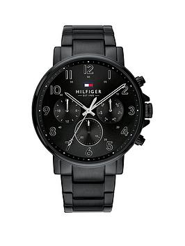 Tommy Hilfiger Tommy Hilfiger Tommy Hilfiger Black Chronograph Dial Black  ... Picture