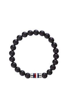 tommy-hilfiger-tommy-hilfiger-black-beaded-stainless-steel-clasp-mens-bracelet