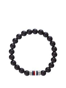 Tommy Hilfiger Tommy Hilfiger Black Beaded Stainless Steel