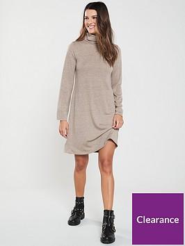 v-by-very-lightweight-knitted-roll-neck-dress-camel