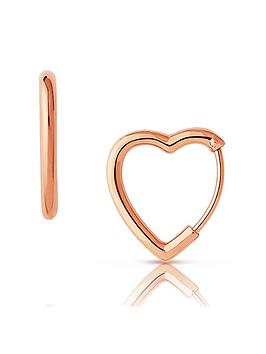 links-of-london-links-of-london-endless-hearts-18ct-rose-gold-plated-sterling-silver-hoop-earrings