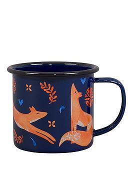 folklore-fox-enamel-mug